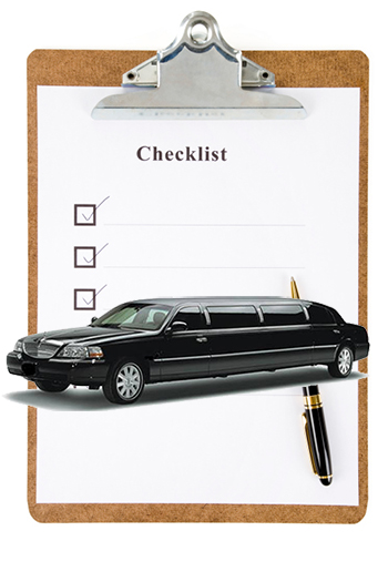 check list when renting a limo in orange county