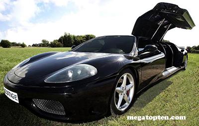 360 Medona Ferrari stretch limo